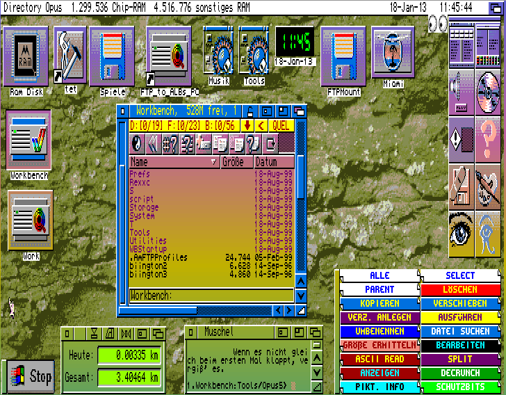 Old Amiga Screenshot with Directory Opus 5