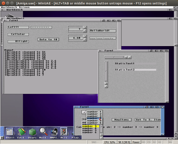 Amiga LCL with working size constraints