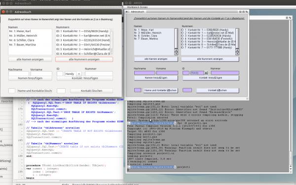 SQLite3 freepascal example program