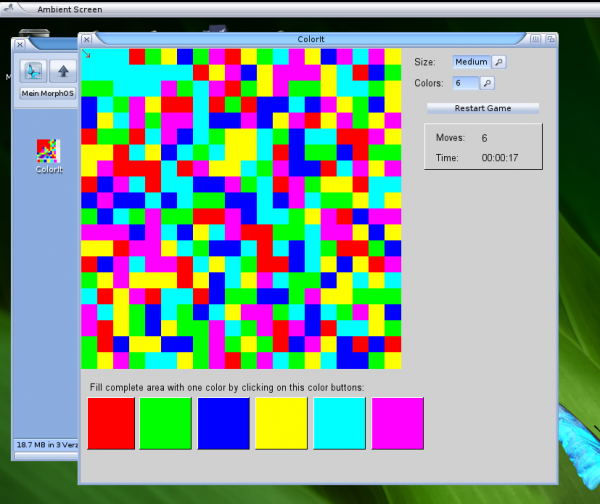 ColorIt on MorphOS