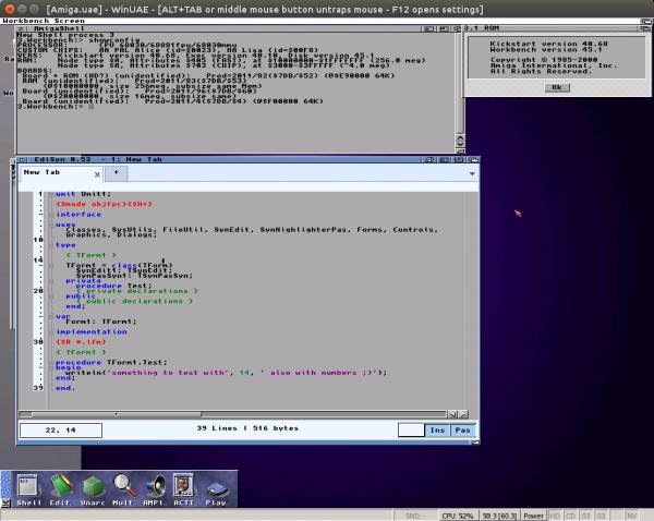 EdiSyn on a m68k Amiga with MUI 3.8