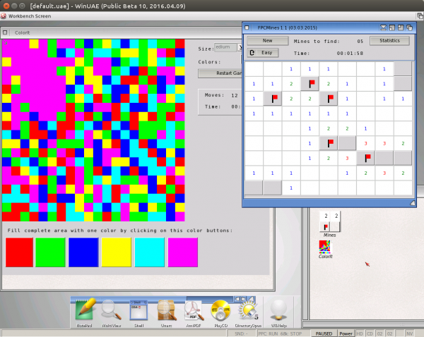 ColorIt and FPCMines for AmigaOS400