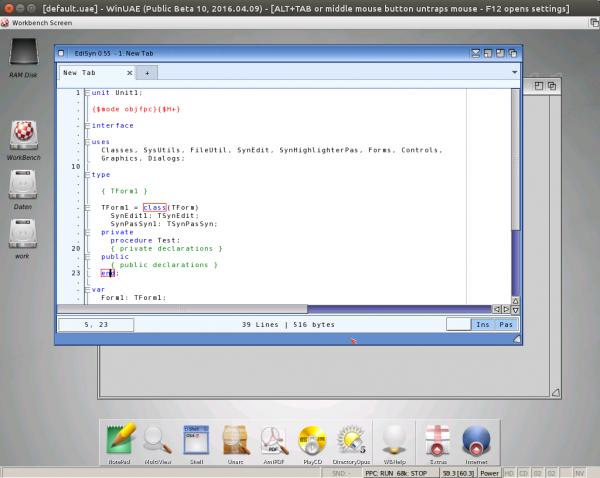 EdiSyn on AmigaOS4